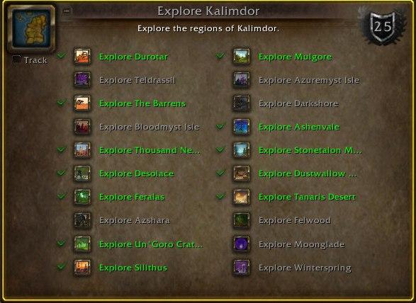 Explore Kalimdor