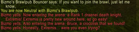 Now I really don't want to talk about Brawler's Guild.