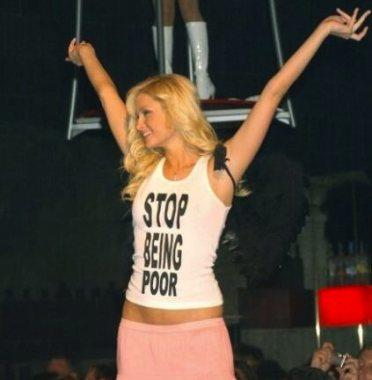 Paris Hilton dropping knowledge.